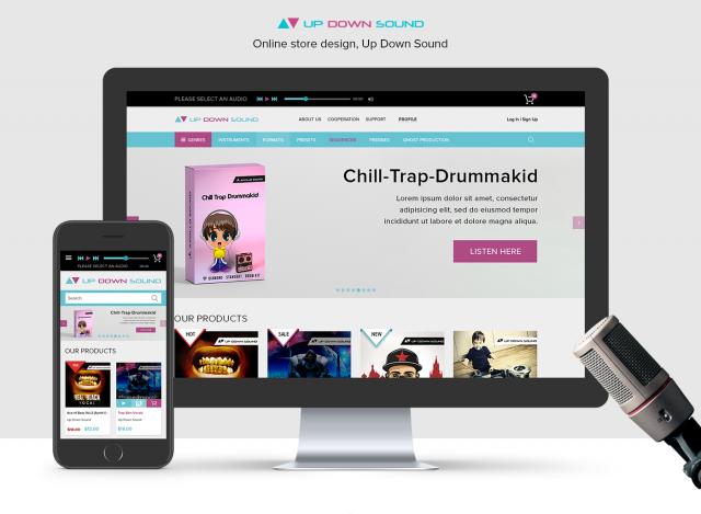 """Online store design """"Up Down Sound"""""""