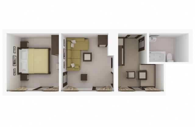 Планировка помещения в 3d