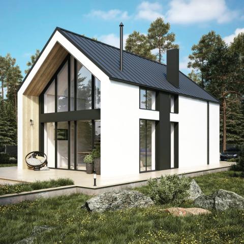 Проект жилого дома в современном скандинавском стиле