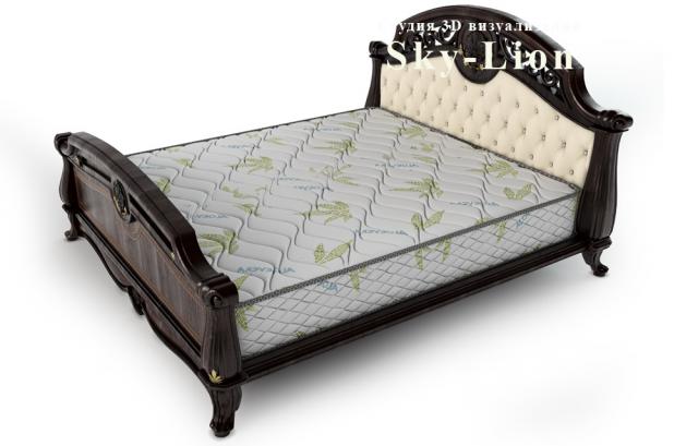 3d моделирование и визуализация кровати