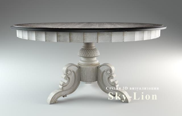 3d моделирование и визуализация стола