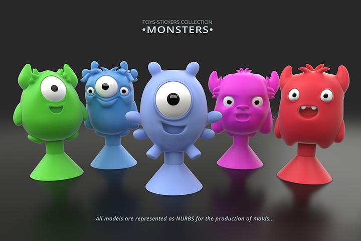 MONSTERS ( MONSTIKS ). Аналог фигурок от Stikeez.