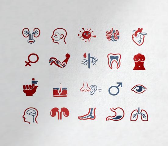 Иконки Медицина разделы сайта