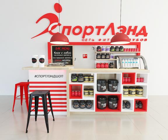 Дизайн торговой точки по продаже спортивного питания