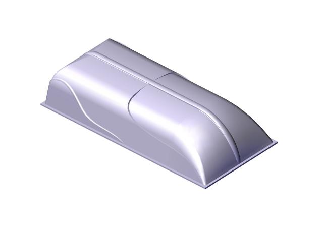 Крышка для прицепа из стеклопластика