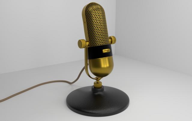 Винтажный микрофон