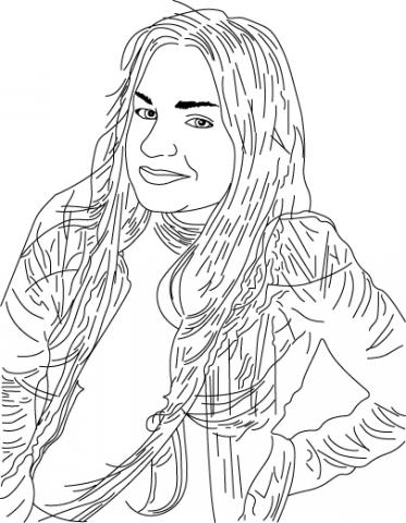 Отрисовка портрета для Инстаграм
