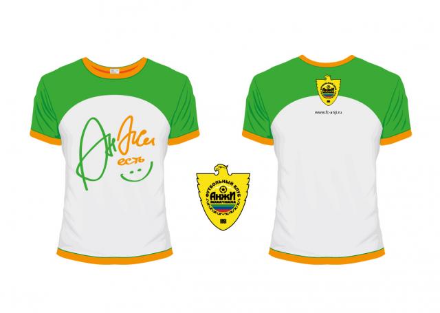 Дизайн футболок для ФК Анжи