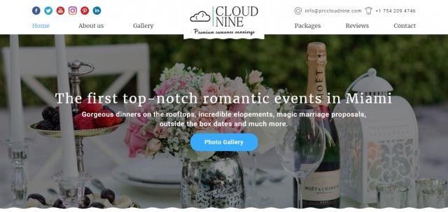 Адаптивный сайт американской компании Cloud Nine