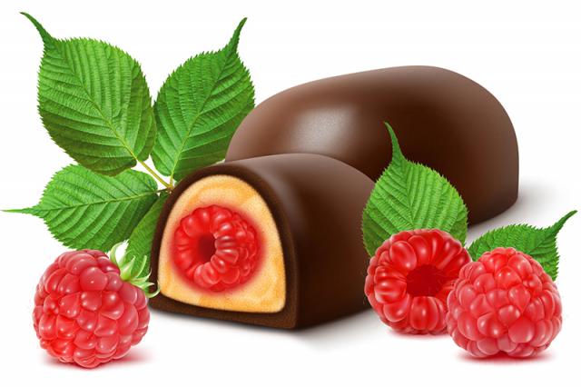 конфета малина