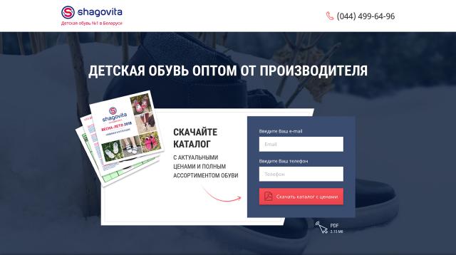 """""""Шаговита"""" — компания по продаже детской обуви"""