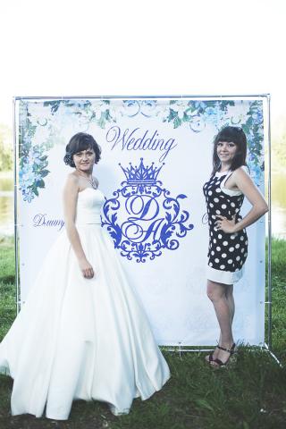 Дизайн баннера для пресс-волла на свадьбу