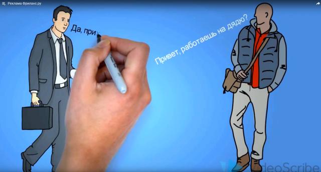 Рисованное видео - реклама Фриланс