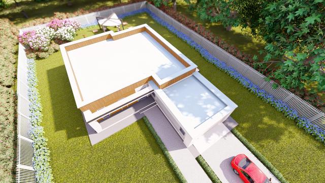 Проект индивидуального жилого дома в современном стиле