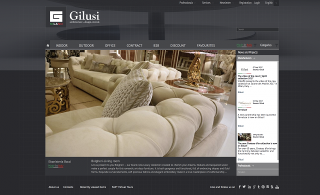 Finest italian furniture from Milano to the world | Gilusi