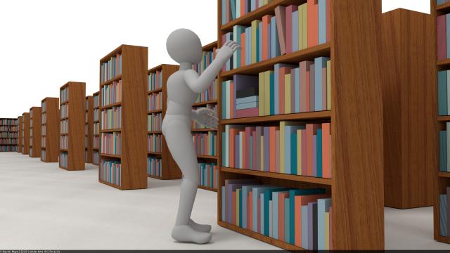 персонажная анимация с книгой