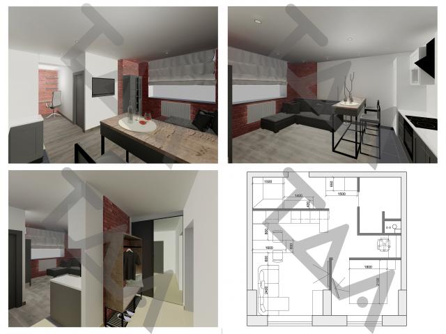 Дизайн интерьера однокомнатной квартиры ЖК Эдельвейс