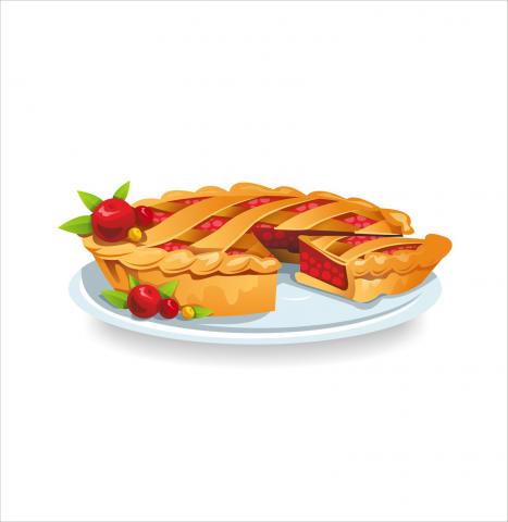 """Иллюстрации для сайта """"Пироги"""""""