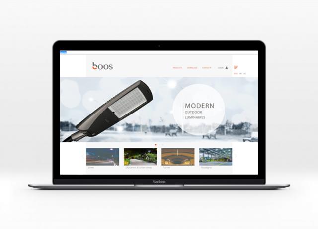 Дизайн сайта http://booslight.com/
