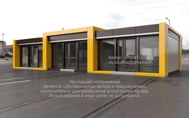 Дизайн комплекса торговых павильонов