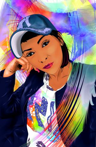 ВЕкторный 3D портрет