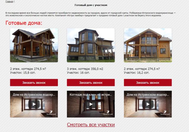 Наполнение контентом сайта недвижимости