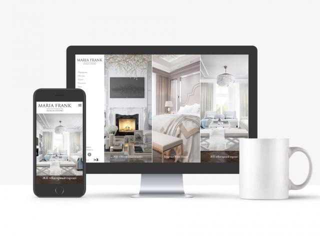 Разработка сайта для дизайнера интерьеров