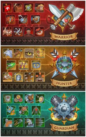 Блоки иконок ( фэнтези сеты) для одной из игр