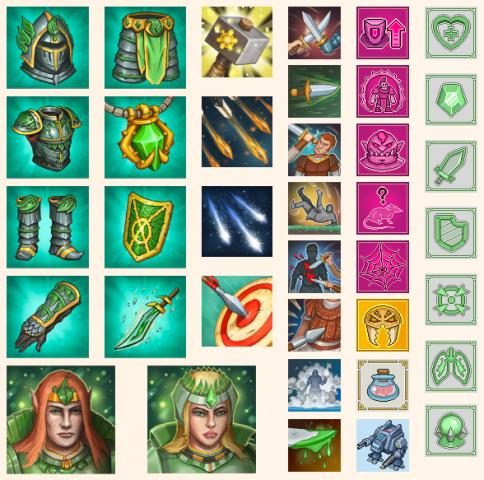 Разная игровая графика ( иконки, образы, аватары) для разных про