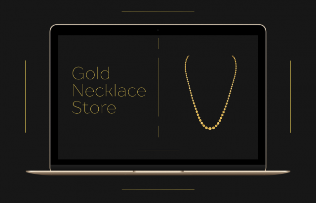 Gold necklace store