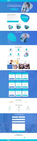 Сайт для курсов повышения квалификации врачей