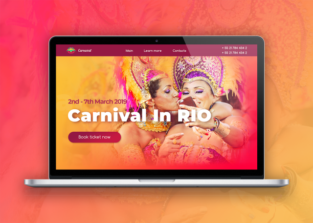 Website for Brazilian Carnival