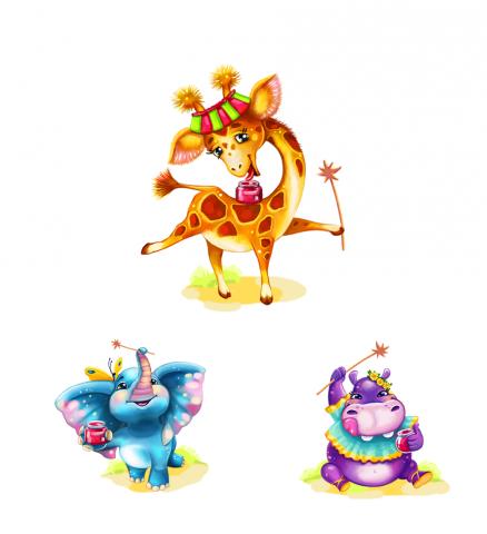 Персонажи зверята