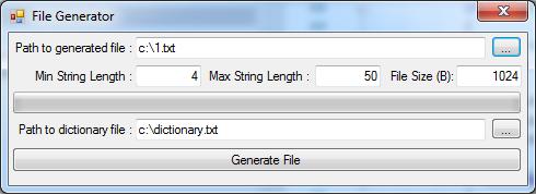 Утилита для генерации текстовых файлов