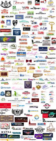 логотипы заказанные клиентами