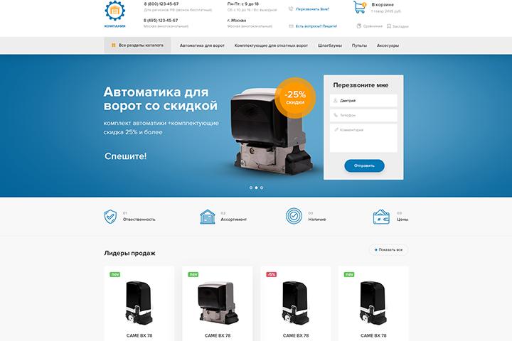 Интернет-магазин: комплектующие для ворот