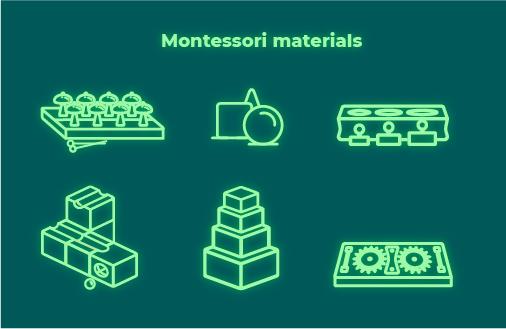 Иконки для сайта детского развивающего центра Монтессори-простра
