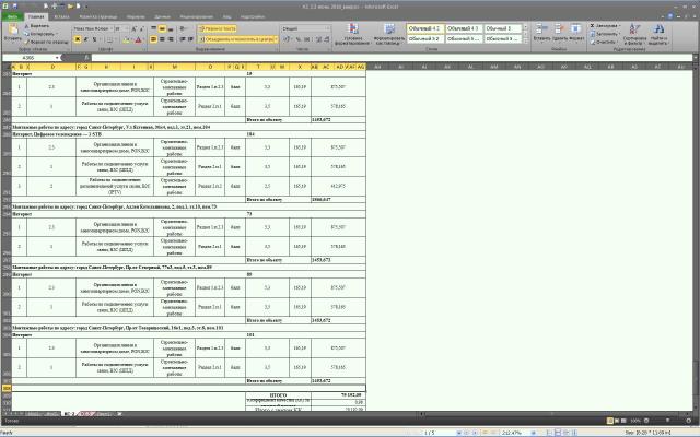 Формирование КС-2 и КС-3 из исходных данных