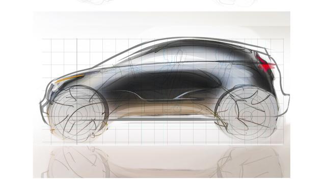Диплом Tesla Electric SUV Sketch