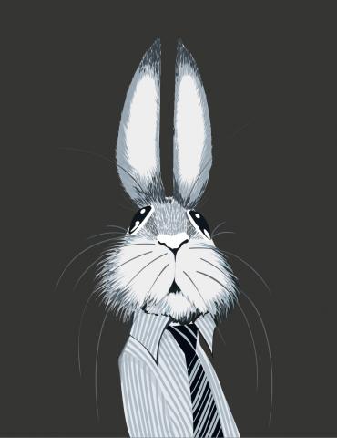 Портрет зайца (отрисовка в вектор)