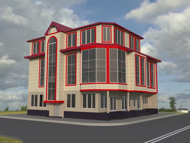 Визуализация торгового здания