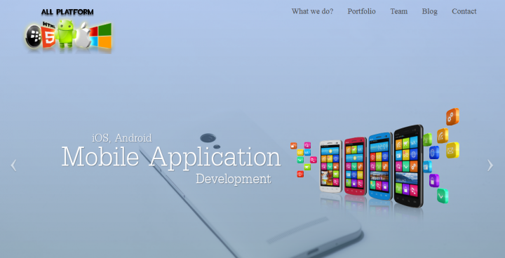 landing for mobile apps devlopement company