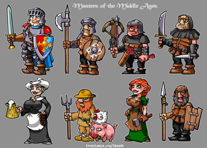 персонажи средневековья