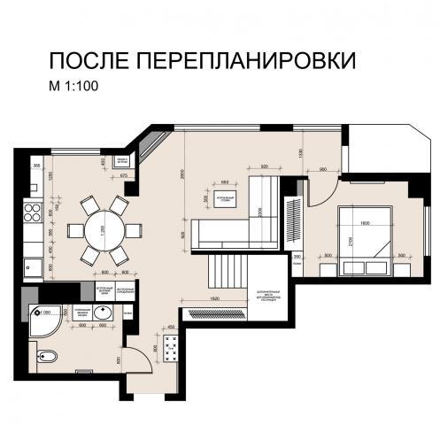 Перепланировка квартиры, Archicad