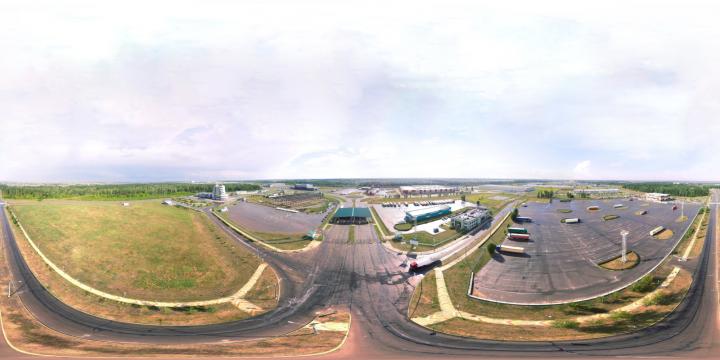 сборка сферической панорамы с коптера