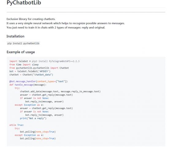 Python-библиотека для создания чатботов
