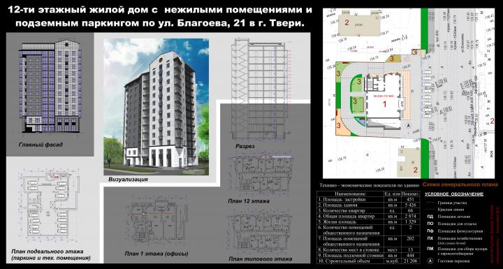 12-ти этажный жилой дом