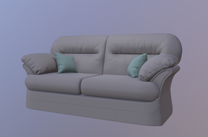 Low poly sofa 1