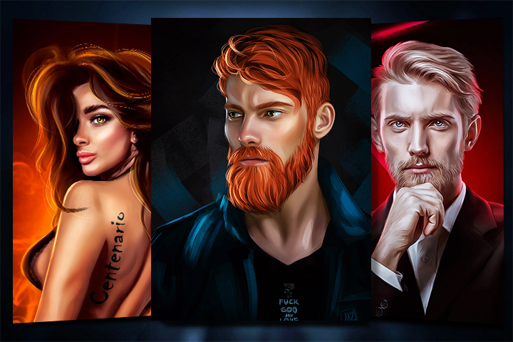Портреты (арты/рисунки)