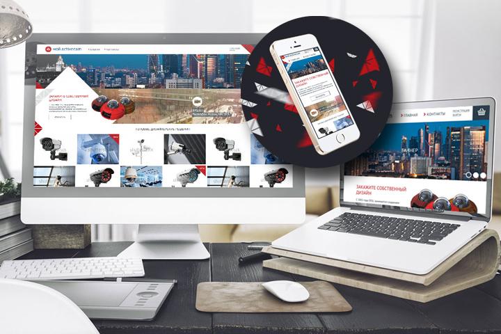 Адаптивный дизайн интернет-магазина по продаже видео камер
